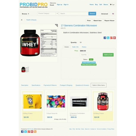 v7.4 to v7.9 - PHP ProBid Sellers Other Items Carousel for Listing Details Page