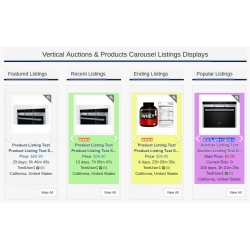 7.4 - 7.5 and Up - PHP ProBid Home Page Add-Ons - All Listings Vertical Carousels Display