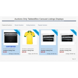 7.4 - 7.5 and Up - PHP ProBid Home Page Add-Ons - Auctions Only Tab and Non-Tabbed Carousels Display