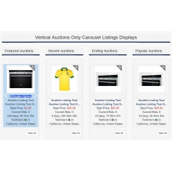 7.4 - 7.5 and Up - PHP ProBid Home Page Add-Ons - Auctions Only Vertical Carousels Display