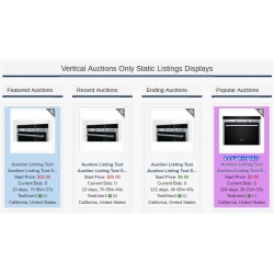 7.4 - 7.5 and Up - PHP ProBid Home Page Add-Ons - Auctions Only Vertical Static Displays