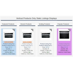 7.4 - 7.5 and Up - PHP ProBid Home Page Add-Ons - Products Only Vertical Static Displays