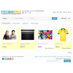v7.4 to v7.10 - PHP ProBid Live End Time on Home Page - Browse Pages - Stores Pages - Admin Pages