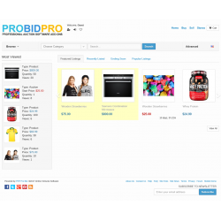 v7.4 to v7.10 - PHP ProBid Home Page Extras - Most Viewed Listings Display - Left Column