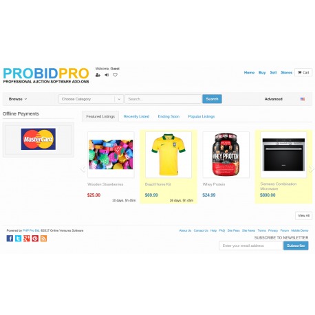v7.4 to v7.9 - PHP ProBid Home Page Extras - Offline Payments Methods Carousel - Left Column