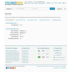 v7.5 and Up - PHP ProBid Site Fees Display Mod and Site Fees Order Mod