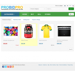 7.XX - PHP ProBid Kelly Green Theme - Standard Theme Carousel Controls