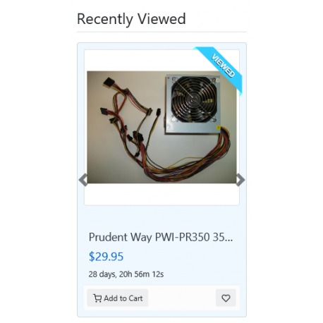 v8.0 and Up - PHP ProBid Home Page Extras - Recently Viewed Listings Display - Custom Install Only
