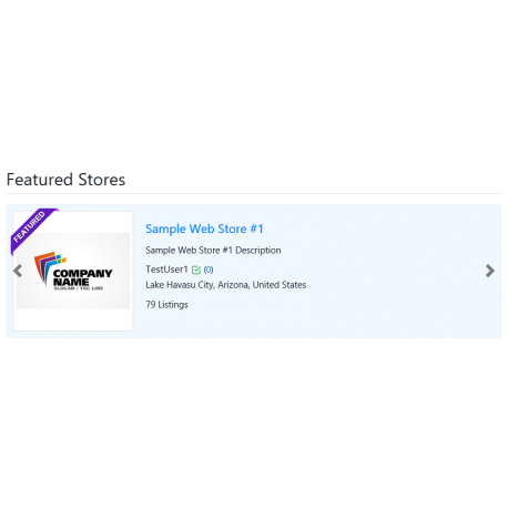 v8.0 and Up - PHP ProBid Featured Stores Carousel for Home Page & Stores Page - Custom Install Only