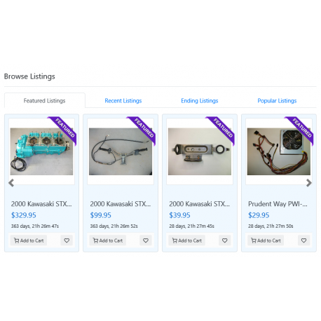 v8.0 and Up - PHP ProBid Stores Tabbed Featured - Recent - Ending - Popular on Stores Pages - Custom Install Only